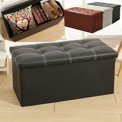 Stupendous Pu Leather Ottoman Stool Bench Storage Seat Box Footrest Short Links Chair Design For Home Short Linksinfo