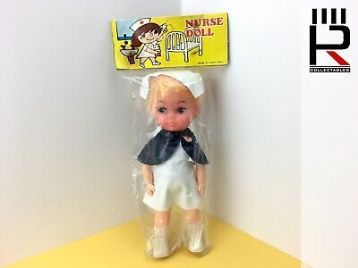 Original Vintage 1970s NURSE DOLL Action Figure Made In Hong Kong. Blonde. MIP