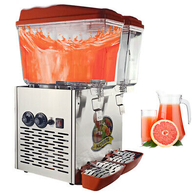 Commercial Juice Dispenser Machine 16L x 2 Hot&Cold Drink Black or Orange Color