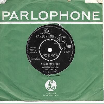 The Beatles A Hard Day's Night  lower case 'The Parlophone Co. Ltd' UK 45 7""