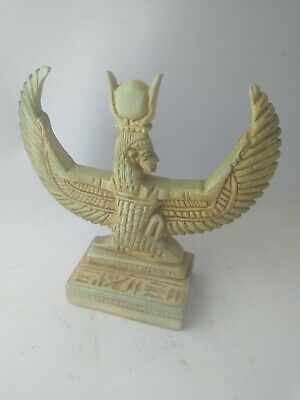 RARE ANCIENT EGYPTIAN ANTIQUE Goddess Winged Isis Stone 380-362 Bc