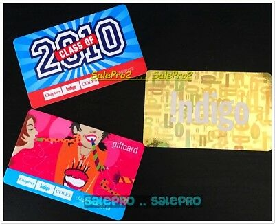 3x CHAPTERS INDIGO COLES 2010 CELEBRATION RARE GOLD COLLECTIBLE GIFT CARD LOT