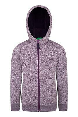 Mountain Warehouse Boys Full Zip Fitted Knit Textured Fleece with Full Zip