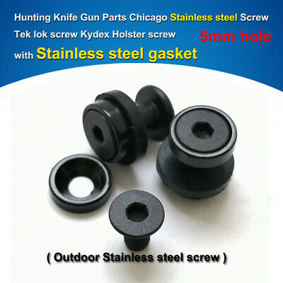 7.5mm Chicago Stainless steel black Screws for 5mm hole knife Kydex Holster