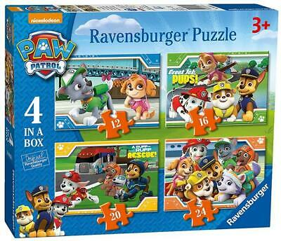RAVENSBURGER PAW PATROL PUZZLE 4 IN A BOX 12/16/18/24pc