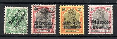 Germany Morocco Post #2 #10 #11 #32 Cat Val £40 WS14176