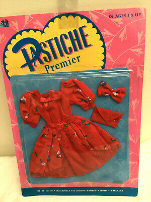 Vintage Hunter Toys PASTICHE Premier Outfit  - Red Dress .Bag & Bow  UNOPENED