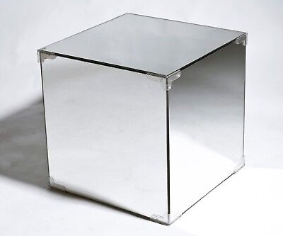Timeless Stylish Design - Mirrored Side Table Storage Cube - New