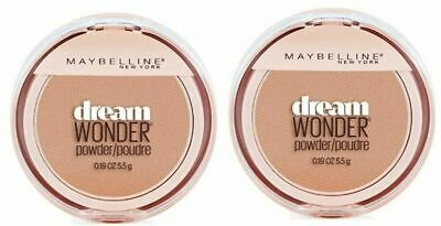 Set of 2 Maybelline Dream Wonder Compact Face Pressed Powder 70 Natural Beige