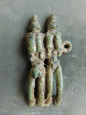 Ancient Annunaki Space Visitors Necklace Pendant from Mesopotamia  Bronze Metal