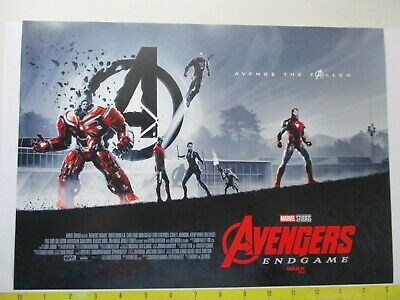 1 Avengers End Game Opening Weekend Imax Movie Poster Marvel Studios