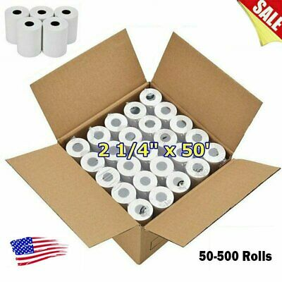"50-500 Rolls Case 2 1/4"" x 50' Thermal Cash Register Credit POS Receipt Paper US"
