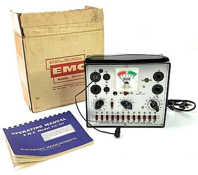 Vintage EMC-213 Tube Tester with Manual & Original Box