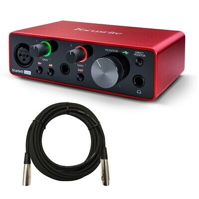 Focusrite Scarlett Solo (3rd Gen) USB Audio Interface CABLE KIT