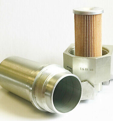 Reusable Medium Pressure Fuel Hydraulic Oil Filter Assembly 10 Micron 3000 Psi