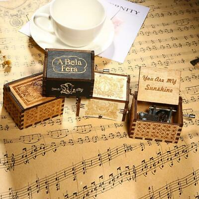 Harry Potter/You are My Sunshine/Moon River Wooden Engraved Music Box Gift/Decor