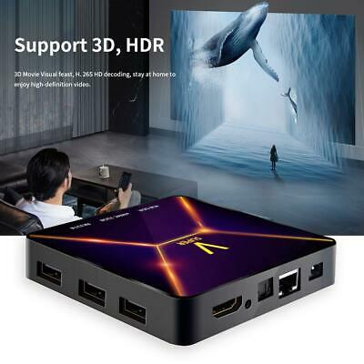 Super V TV Box 4GB+32GB Android9.0 Quad Core 3D 4K Set Top Box WiFi Media Player