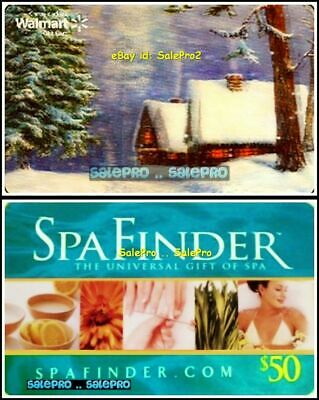 2x SPA FINDER MASSAGE WALMART CHRISTMAS 3D LENTICULAR COLLECTIBLE GIFT CARD LOT