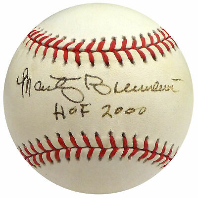 "Marty Brennaman Autographed Signed MLB Baseball Reds ""HOF 2000"" Beckett H75365"