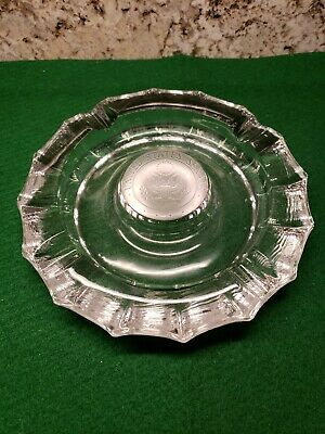 Vintage United States Senate Etched Lead Crystal Glass Cigar Ashtray 7-3/4""