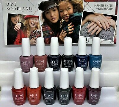 OPI Soak-Off GelColor - SCOTLAND Fall 2019 Collection - All 12 Colors