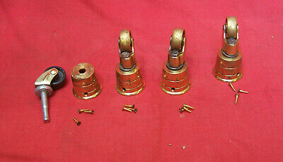brass heavy duty cup castor with screws