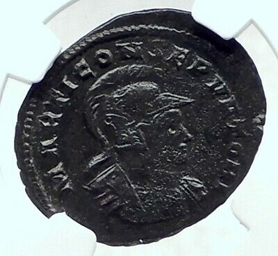 CONSTANTINE I the GREAT & MARS 310AD Authentic Ancient Roman Coin NGC i79182