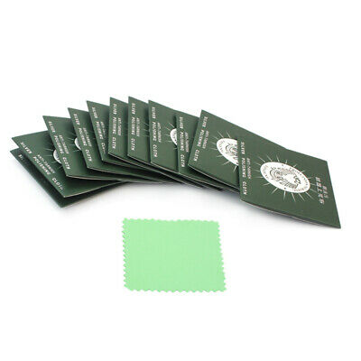 12 Pcs Jewelry Gold Silver Polish Protect Polishing Cleaner Cleaning Cloth New