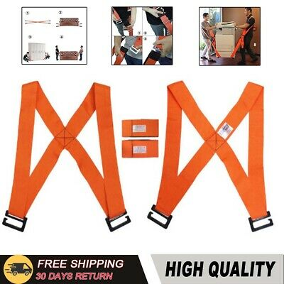 Lifting Moving Straps Heavy Duty Furniture Movers Aid Shoulder Harnesses Belt