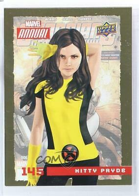 2016 Upper Deck Marvel Annual SP Gold Shadowcat Kitty Pryde #145 1md