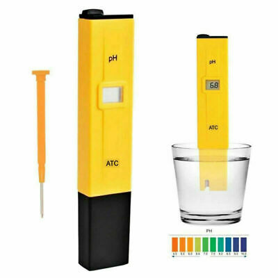 LCD Digital PH Meter Hydroponic Pool Water Quality Tester Pen Test Accuracy 0.1