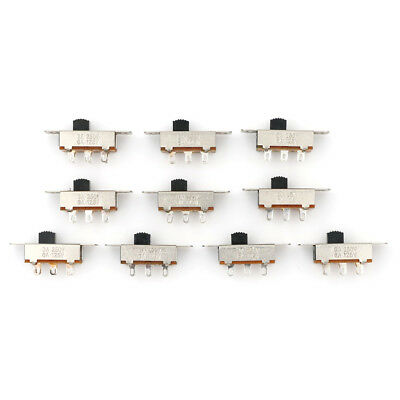 10Pcs 2 Position Dpdt 2P2T Panel Mount Vertical Slide Switch 3A 125V 6A 250V FE