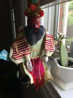 Miniature Chinese Opera Puppet / Marionette - Red Face (General Guan Yu)
