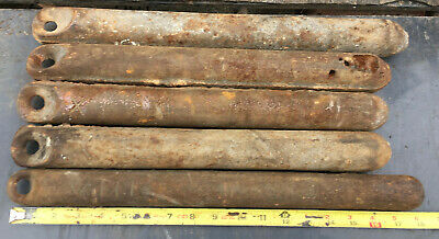 Cast Iron Window Sash Weights 5 total - VIII X vintage 8 10 boat anchor