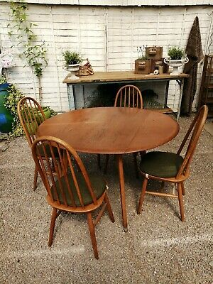 Mid Century Vintage After Ercol Quaker Table And Chairs
