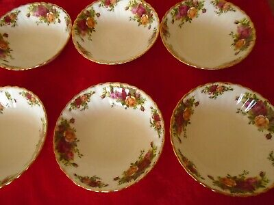 Royal Albert Old Country Roses ****SET OF 6 CEREAL BOWLS 1ST.Q.EARLY STAMP ***