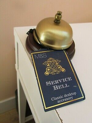 Brass Service Bell Reception Hotel Desk Marks and Spencer new