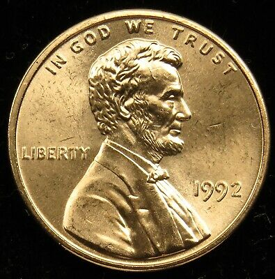 1992 Uncirculated Lincoln Memorial Cent Penny BU (B01)