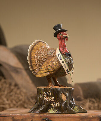 Bethany Lowe Thanksgiving Turkey Bird of The Day AUTHORIZED DEALER  FREE SHIP