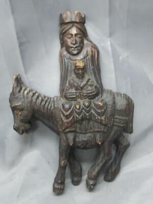 VINTAGE MADONNA & Child Wood Carving-Large-Christian