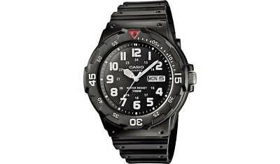 Casio Men's Rotating Count Up Bezel Black Resin Strap Watch A Rotating Count-Up