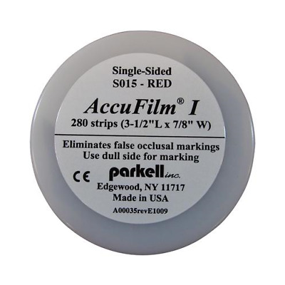 Parkell S015 AccuFilm I Thin Articulating Film Single Sided Red .0008 280/Pk