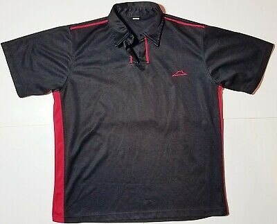 PIZZA HUT Employee Uniform Work Delivery Polo Golf Shirt Short Sleeve L Large