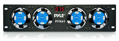 "Pyle-Pro PFN41 19"" Rack Mount Cooling Fan System W/Temperature Display 110v ONLY"