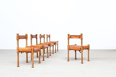 5 Oak Leather Dinning chairs danish design1960s Mogensen, Wegner