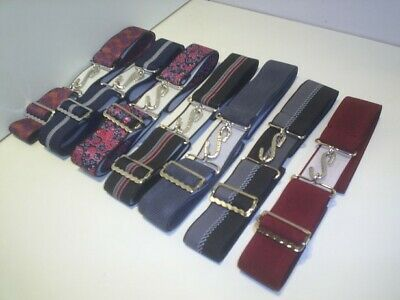 elastic belts wide 1.1//2  inch with snake buckle fits 30 to 44 waist