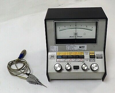 BROWN & SHARPE 599-1020 PRECISION MICROMETER w/ 981 PROBE TESTED AND WORKING