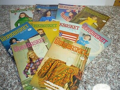 J2 Lot of 10 Vintage Issues 1970s THE WORKBASKET Magazine booklet crafts Crochet