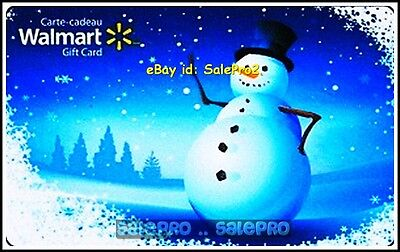 Walmart Christmas Snowman High Five Saluting #Fd23702 Collectible Gift Card