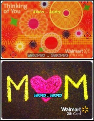 2x WALMART MOTHER'S DAY THINKING OF YOU 3D LENTICULAR COLLECTIBLE GIFT CARD LOT
